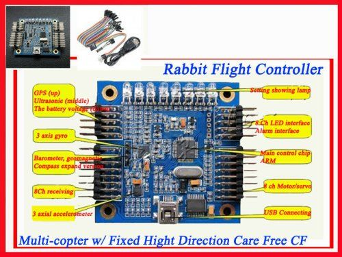Rabbit Flight Controller Quad Multi-copter w/ Fixed Hight Direct