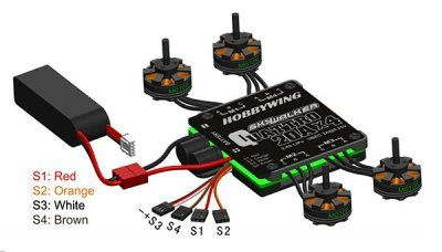 4-in-1 Speed Control Quad HOBBYWING Skywalker Quattro 25A x 4
