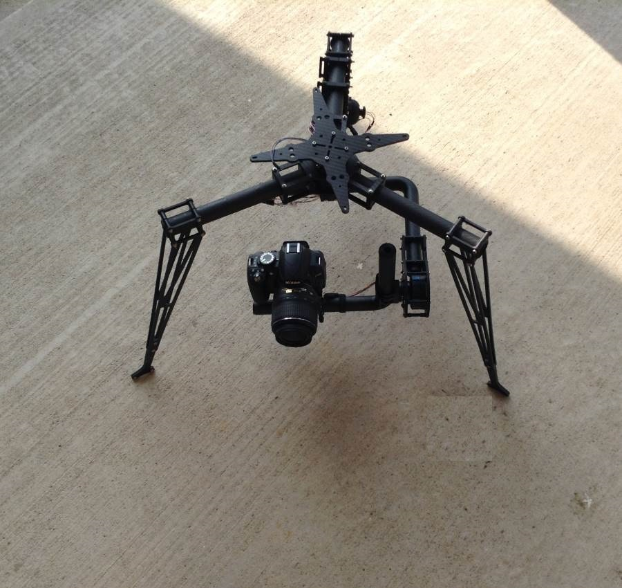 AERIAL 3axis 360 degrees brushless gimbal for cinestar copter