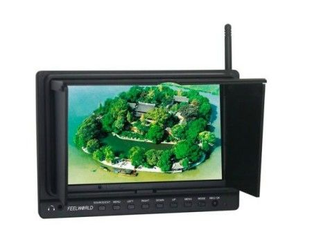 7 inch 800x480 Resolution FPV Monitor W/Light Shield+5.8G Receiv