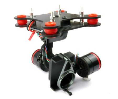 CNC 2-Axis Brushless Gimbal Assembly for Gopro Hero 3 W/ Damping