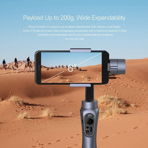 Zhiyun Smooth Q 3 Axis Brushless Handheld Gimbal For 6 Inch iPhone Smartphone GoPro 3/4/5 Smart Phone Mobile