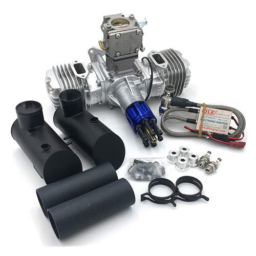 RC Model Gasoline Engine DLE 130CC Displacement Dual Cylinder