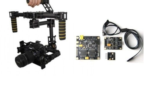 3-axis Carbon Fiber Handheld Brushless Gimbal & Controller
