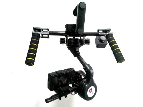 N5 N7 3-axis Carbon Fiber Handheld Brushless Gimbal + controller