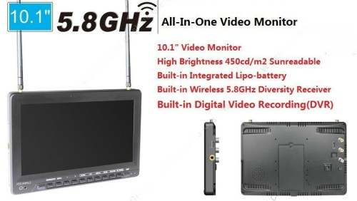 "1032 10.1"" HD Video Monitor Wireless 5.8G Receiver 32ch"