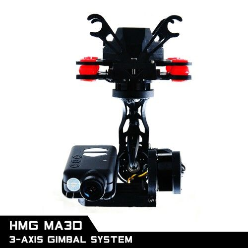3-Axis Brushless Gimbal Camera Mount with MOBIUS Actioncam