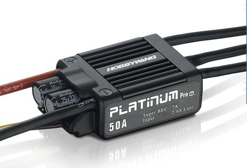 50A Hobbywing Platinum V3 Brushless ESC For 450 450L RC Heli