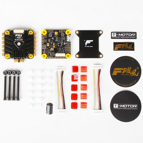 T-MOTOR Tmotor F4 Flight Controller & F55A PRO II 6S 4 In 1 ESC Stack FPV Racing Drone