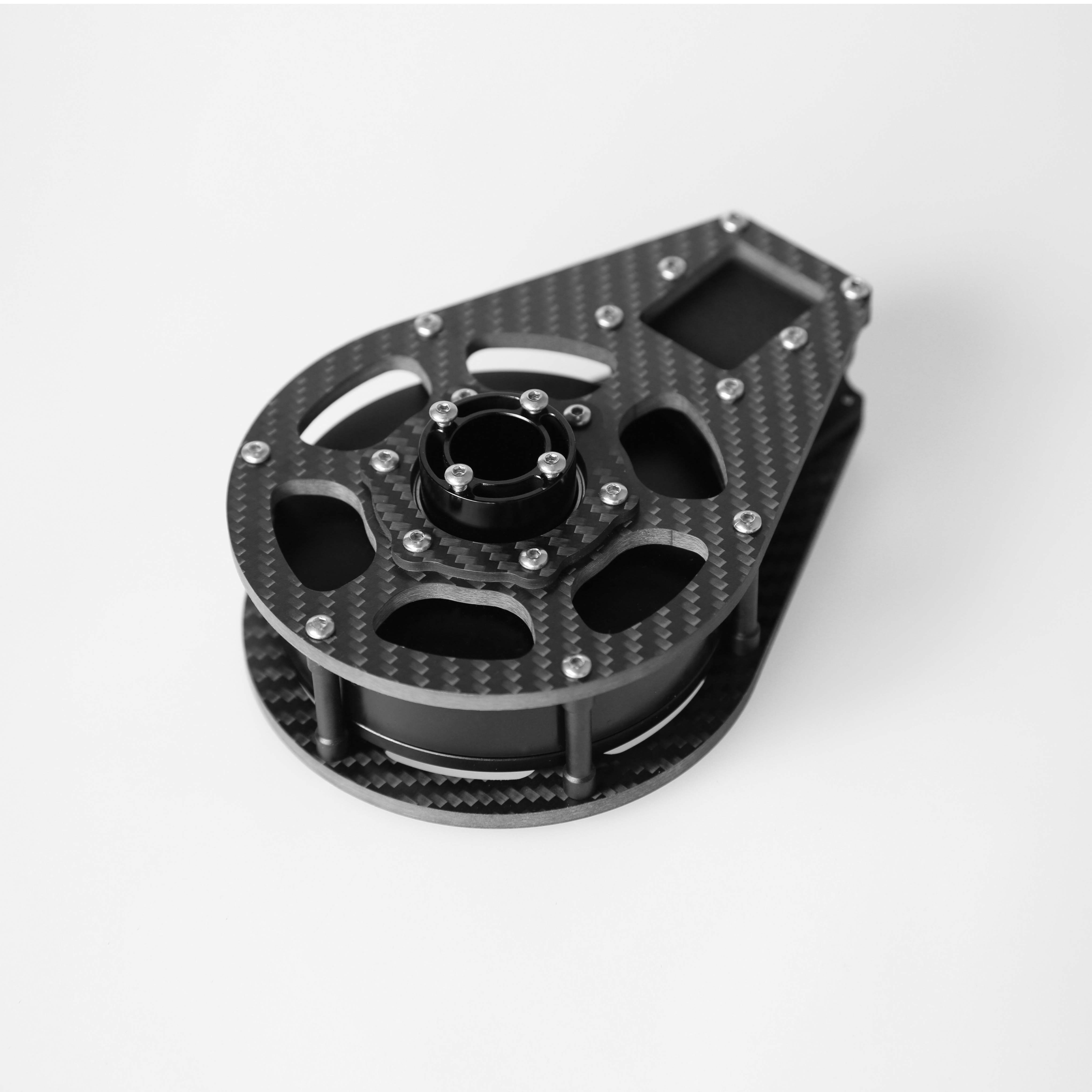 Carbon fiber motor cage 3 Axis Tilt X Axis with 6208 motor