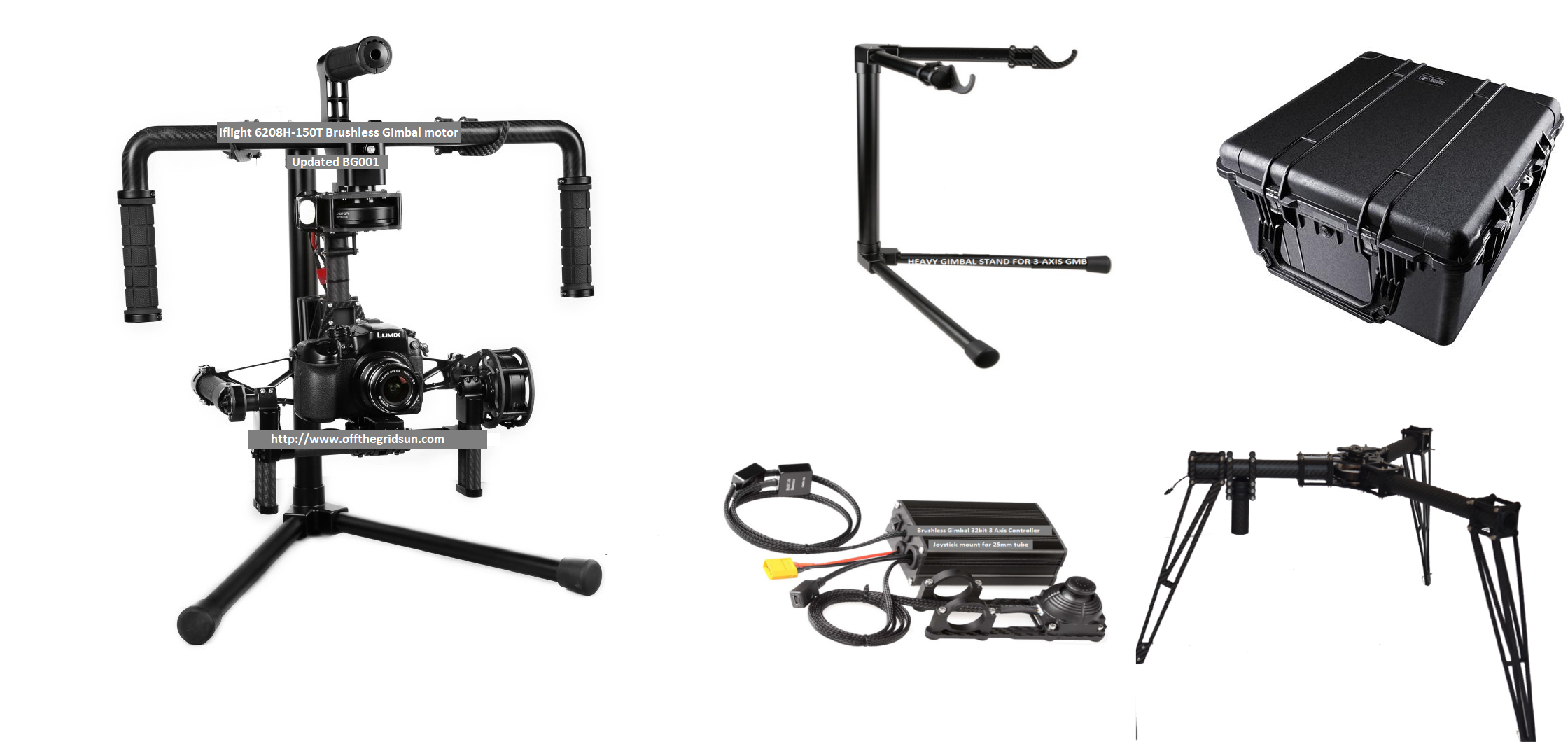 CINESTAR 3 Axis Brushless GIMBAL system Steadicam & LANDING GEAR