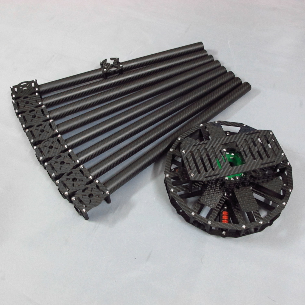 Octocopter Kit 8 Axis Carbon Fiber Square Tube Upgrade
