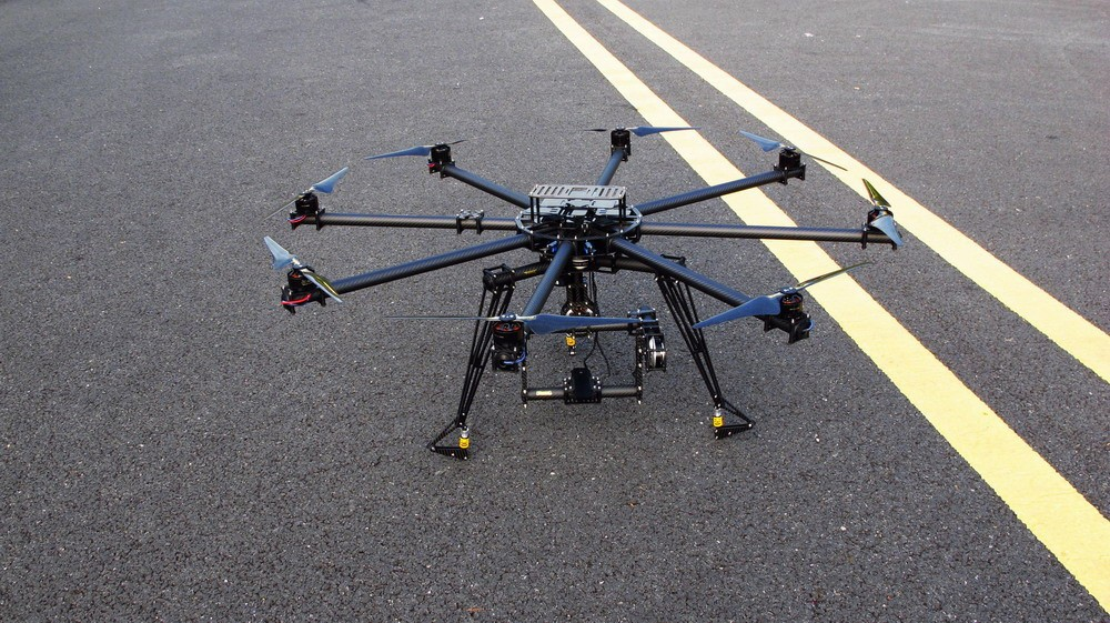 Octo Copter CF Frame + brushless gimbal with BGC motor