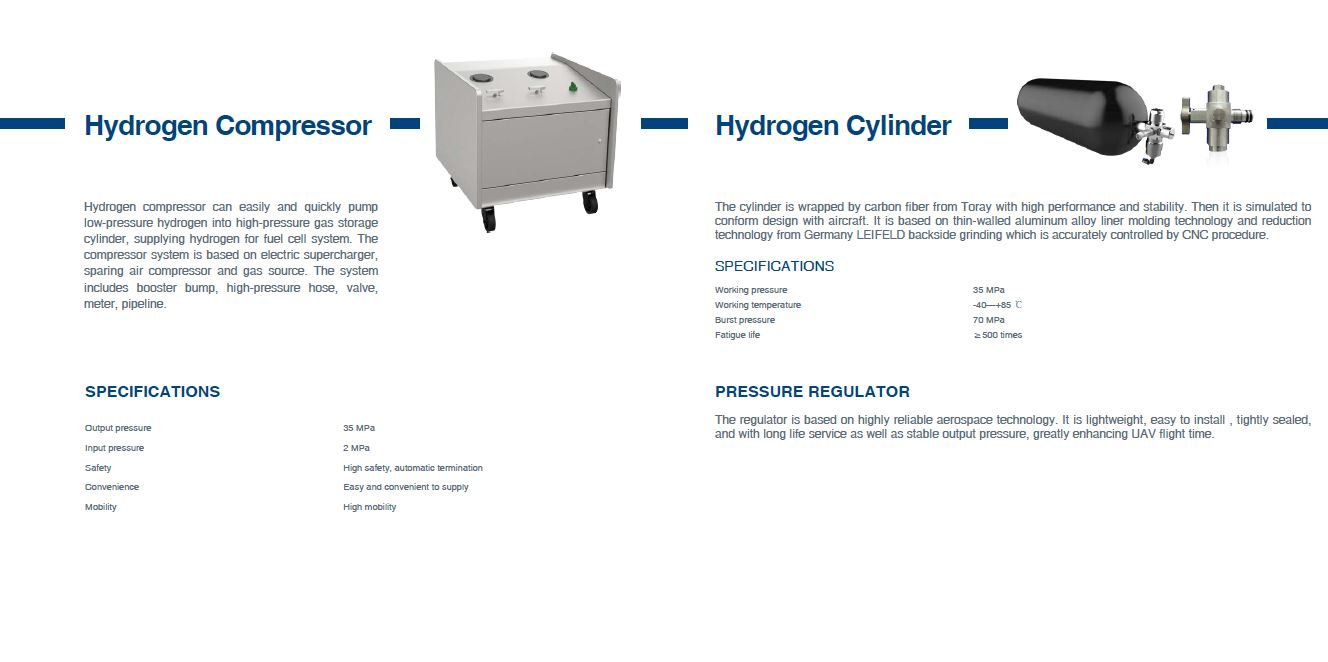 Hydrogen fuel sell 800w, 1000w, 1800w with 2L tank for DRONE