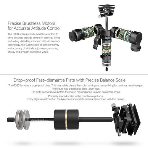 Feiyu G360 Handheld Gimbal Stabilizer for SONY FDR-X3000 Panoramic Camera