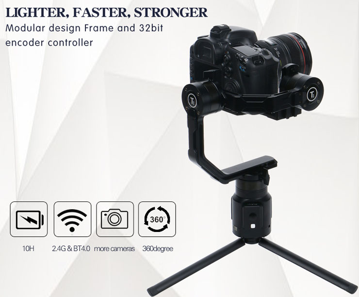 Ti 3-Axis Gimbal Handheld Stabilizer for small DSLR Camera