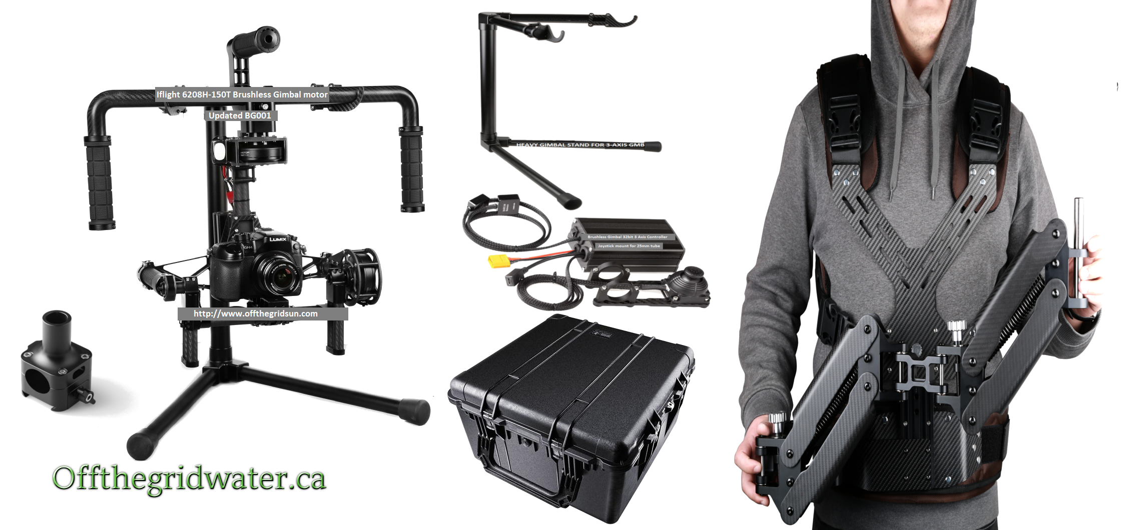 3 axis Gimbal system BGC Brushless with Steady cam Vest & case