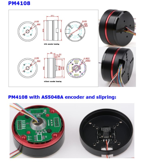 Encoder Motor PM4108 AS5048A encoder