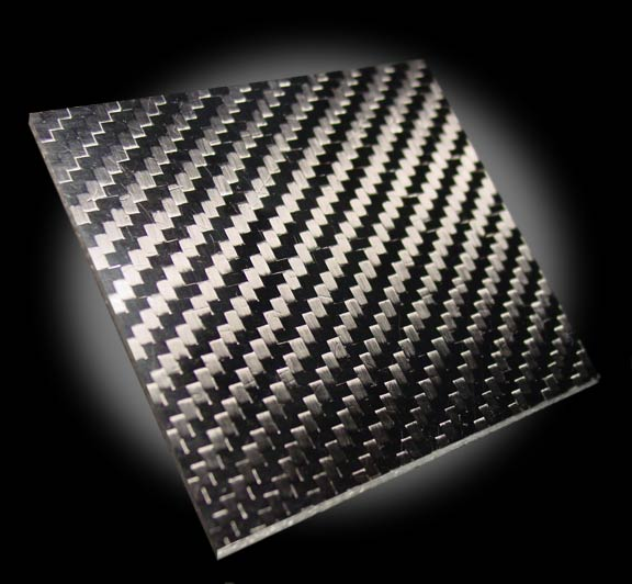 Carbon fiber plate 200mm x 300mm x 3mm Thickness