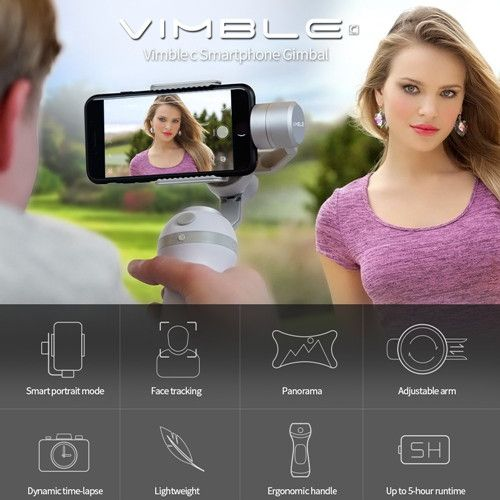 eiyuTech Vimble c Smartphone Gimbal Support Face Tracking Panorama Shooting Dynamic Time-Lapse