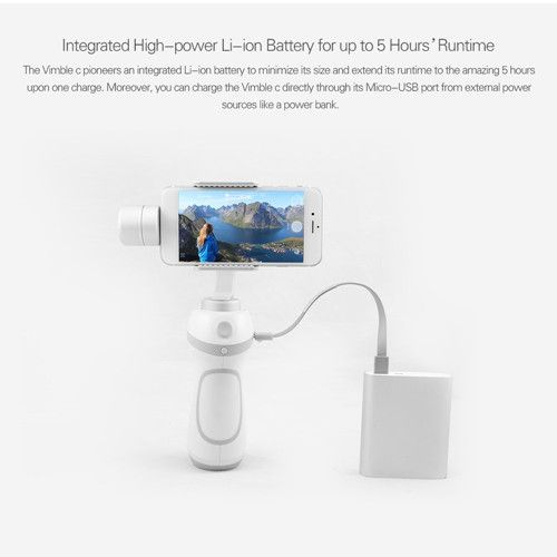 Smartphone Gimbal eiyuTech Vimble Support FaceTracking Panorama