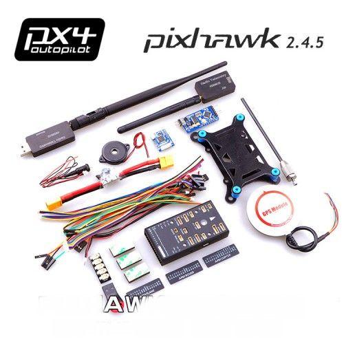 Pix 2.4.5 + M8N GPS+3DR Radio(433mhz 500mw/915mhz 250mw)+ Mini OSD